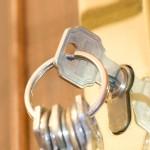 keys in the door lock